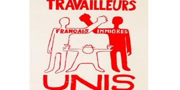Cartaz 'Travailleurs français immigrés unis', 1968