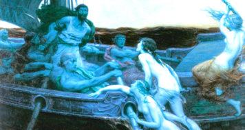 Herbert James Draper: 'Ulisses e as sereias' - trecho que Adorno estuda (Reprodução)