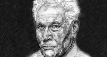 O pensador Jacques Derrida (Arte Arturo Espinosa)