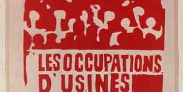 Cartaz 'Vive les occupations d'usines', 1968 (Reprodução)