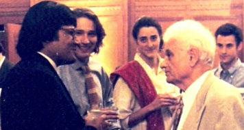 Chinmoy Guha e Jacques Derrida (Reprodução)