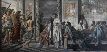 O Banquete de Platão, representado por Anselm Feuerbach (1873), Alte Nationalgalerie, Berlim
