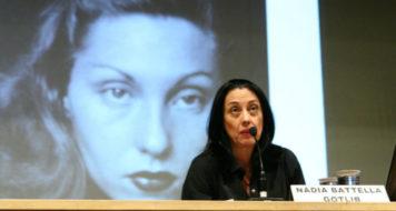 Nadia Battella Gotlib durante o primeiro dia do II Congresso de Jornalismo Cultural (Foto: Damião A. Francisco)