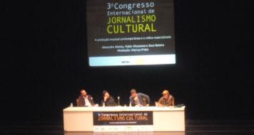Alexandre Matias, Pablo Miyazawa, Marcus Preto e Zeca Baleiro durante o 3° Congresso Internacional de Jornalismo Cultural (Divulgação)