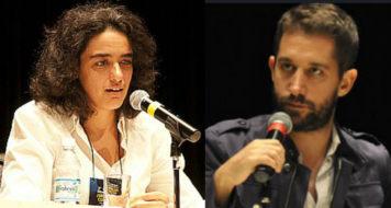 Os jornalistas Julián Gorodischer e Sylvia Colombo (Sesc em São Paulo)