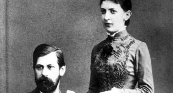Freud e Martha, 1886 (Reprodução)