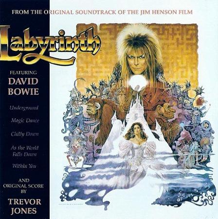 """Labirynth (1989): Trilha sonora para o filme """"Labirinto – A magia do tempo"""", de Jim Henson, em que Bowie, inclusive, interpreta Jareth, o rei dos duendes"""