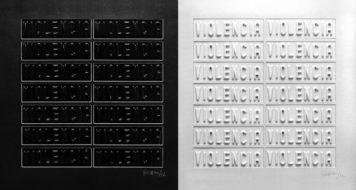 Violencia, Juan Carlos Romero, 1972, gravura (díptico), Museo de Arte Moderna de Buenos Aires (Divulgação)