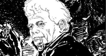 O pensador Jacques Derrida (Arte NCMallory)