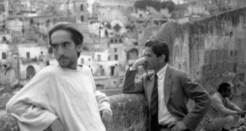 Pasolini no set de filmagens de O Evangelho segundo São Mateus (Foto Domenico Notarangelo)