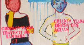 """Parte da série de pinturas """"Criança Viada"""", de Bia Leite (Reprodução)"""