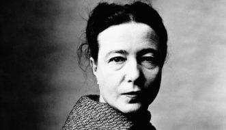 A pensadora francesa Simone de Beauvoir ( Irving Penn)