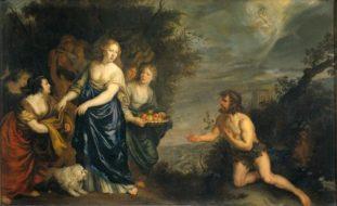 'odisseu e Nausicaa', de Joachim Sandart, século 17