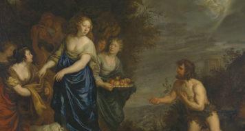 """Odisseu e Nausicaa"", de Joachim Sandart, século 17"
