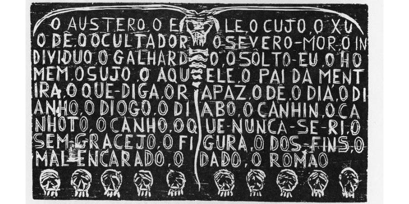 'O Diabo não há', Xilogravura de Arlindo Daibert