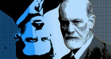 Walter Benjamin e Sigmund Freud (Reprodução)