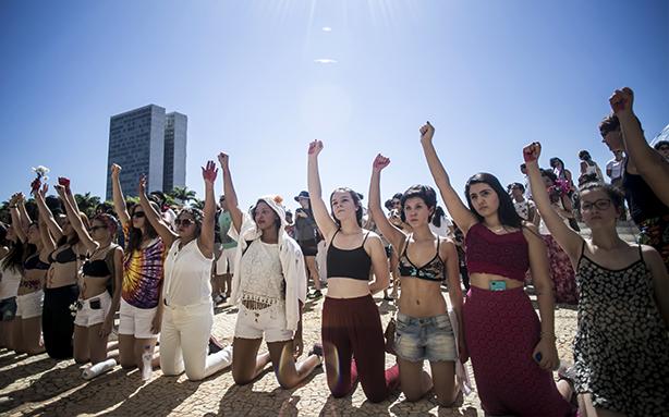 Quarta Marcha das Vadias em São Paulo, em maio de 2014 (Foto: Mídia Ninja)