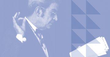 O psicanalista francês Jacques Lacan (Arte Andreia Freire / Reprodução)