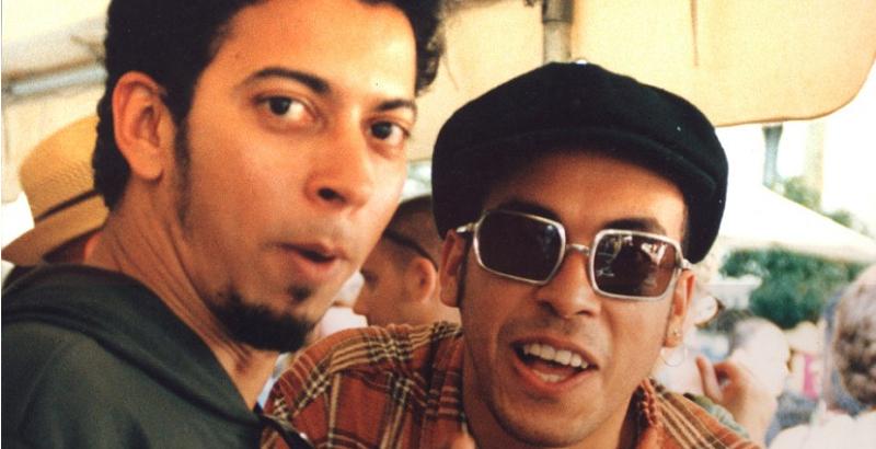 Jorge du Peixe e Chico Science em Nova York, 1995 (Reprodução)