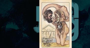 Por Salvador Dalí (Arte Andreia Freire / Reprodução)