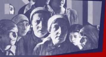 """Recorte do cartaz """"Viva o Dia Internacional das Trabalhadoras"""", de 1926 (Arte: Revista Cult)"""