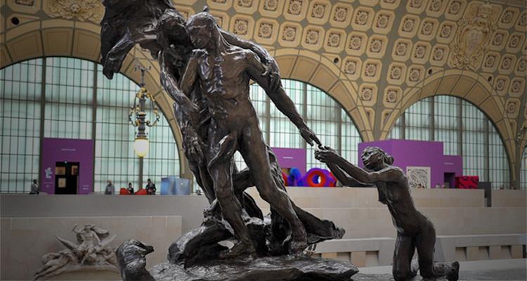 """""""A Idade Madura"""", escultura de Camille Claudel, no Museu de Orsay, em Paris (Foto: Divulgação)"""