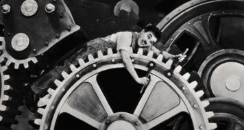 Cena do filme 'Tempos modernos', de Charles Chaplin (Divulgação)