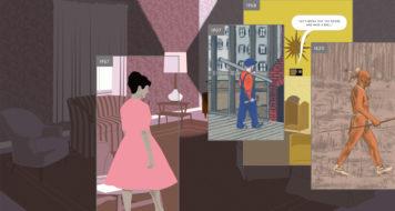 Trecho da graphic novel 'Here', de Richard McGuire (Reprodução)
