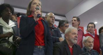 Ex presidente em entrevista coletiva na sede do PT Nacional, em São Paulo