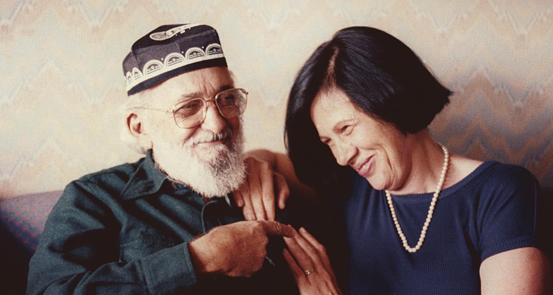 Com Paulo Freire, em Nova York, 1988 (Acervo pessoal)