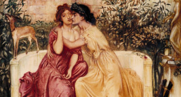 Safo e Erinna em um jardim em Mytilene, 1864