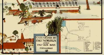 Detalhe da arte de Cícero Dias baseado no Esboço de Gilberto Freyre (Reprodução)