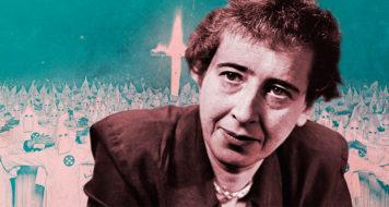 A filósofa Hannah Arendt relacionou o mal e o ódio a um vazio reflexivo (Arte Andreia Freire)