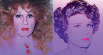 Imagens da série Self Portrait in Drag de Andy Warhol