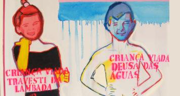 """""""Travesti da lambada e deusa das águas"""" (2013), obra de Bia Leite"""