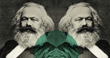 Karl Marx (Foto Henry Guttmann / Arte Andreia Freire)