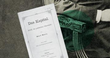 Capa da primeira edição de 'O capital', lançado em 1867 (Arte Andreia Freire)