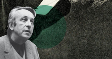 O filósofo franco-argelino Louis Althusser (Foto Divulgação / Arte Andreia Freire)