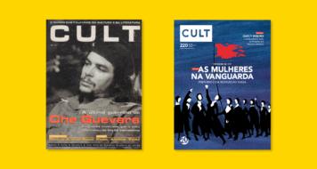 Edição n. 1 'A última guerrilha de Che Guevara', 1997 (Foto: Osvaldo Salas) e Edição n. 220 'As mulheres na vanguarda' (Ilustração: Gilberto Maringoni)