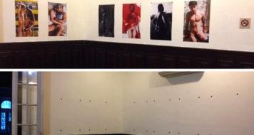 Obras do coletivo Flsh que sumiram no Centro Cultural Oduvaldo Viana Filho (Reprodução)