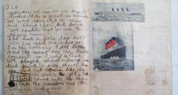 Caderno usado pelo escritor Ernest Hemingway quando tinha 10 anos (Foto Sandra Spanier/Reprodução)