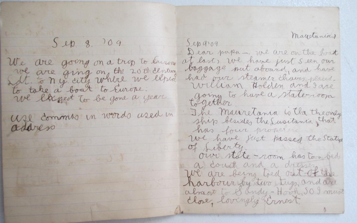 A história do diário de viagens de Hemingway foi escrita com cartas feitas para seus pais e o que parecem ser trechos de seu diário (Foto Sandra Spanier / Reprodução)