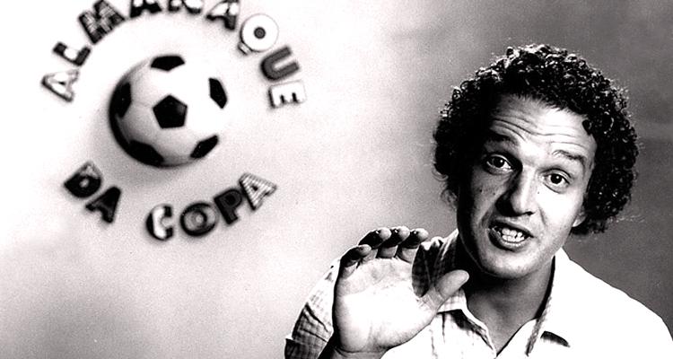 Juca Kfouri no primeiro programa de tv que participou, em 1982 (Reprodução)