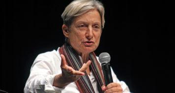 Judith Butler durante coletiva de imprensa no I Seminário Queer, 2015 (Foto Fanca Cortez)