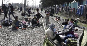 Acampamento para refugiados em Idomeni, Grécia