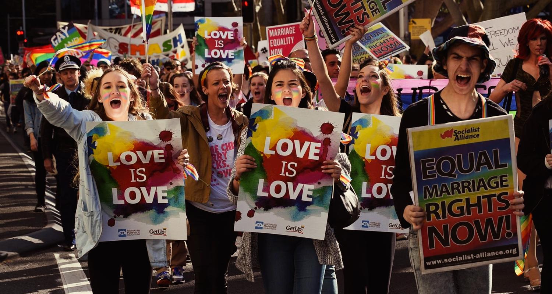 Manifestação a favor do casamento de mesmo sexo em Sydney (Divulgação)