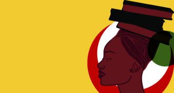 Logo da livraria Africanidades, especializada em literatura afro-brasileira (Arte: Patricia Abòrisá)