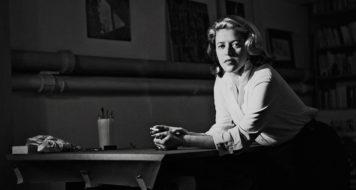 Hilda Hilst em 1954 (Foto Original Fernando Lemos / Foto Edouard Fraipont / Coleção Itaú)