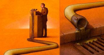 Obra da artista polonesa Pawel Kuczynski (2011)