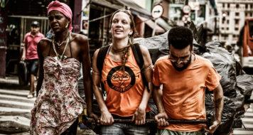 A Craco Resiste é um coletivo que se contrapõe a violência policial na Cracolândia da Luz, no centro de São Paulo (Divulgação)